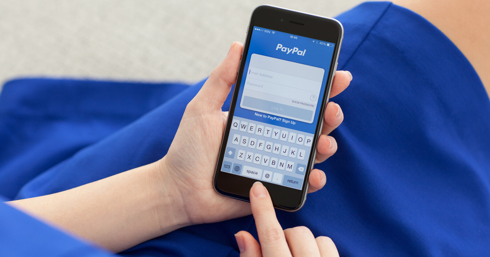 Sending money with PayPal