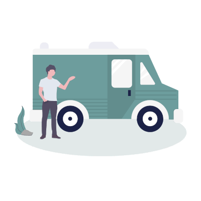 home delivery illustration