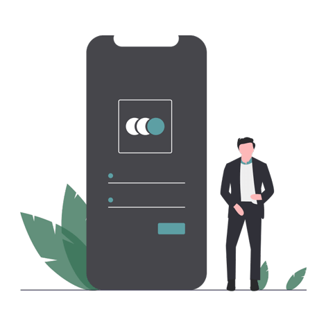 register on the app illustration