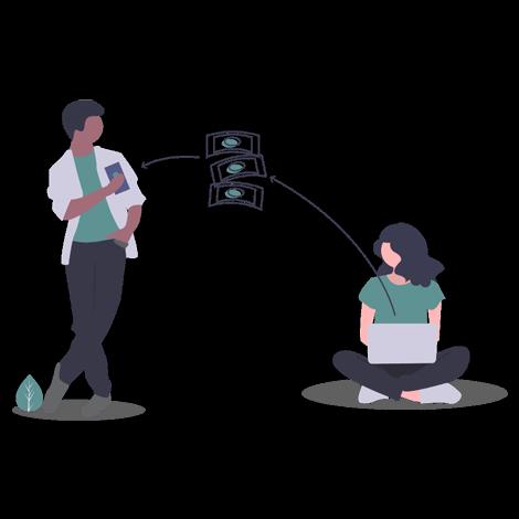 send money illustration